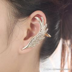 Best 2015 Newest Fashion Punk Metal Fairy Ear Hook Elves Wings Ear Cuff Earring Ear Clip Popular Wedding Earring Stud Women Single Ear Clip Under $1.11 | Dhgate.Com