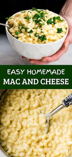 This Easy Homemade Mac and Cheese Recipe is made with 6 ingredients in 15 minutes on the stovetop (no baking required)! - The ingredients and how to make it please visit the website Light Pasta Recipes, Cheesy Pasta Recipes, Easy Healthy Pasta Recipes, Best Pasta Recipes, Pasta Dinner Recipes, Pasta Dinners, Pasta Salad Recipes, Noodle Recipes, Shrimp Recipes