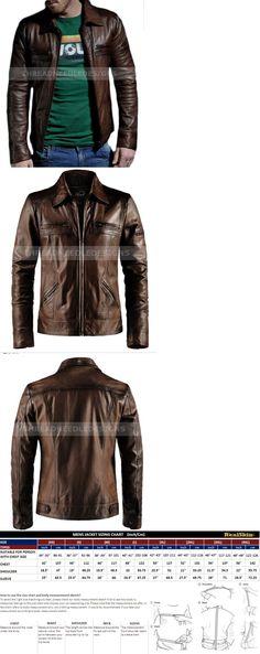 314d1a6f495b7 Men Coats And Jackets  Men S Motorcycle Genuine Lambskin Brown Slim Fit  Biker Leather Jacket