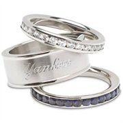 Logo Art New York Yankees Ladies Spirit Crystal Stacked Ring Set