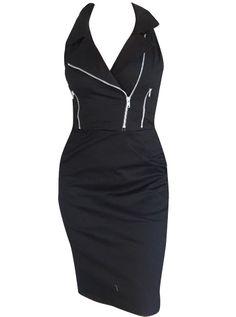Women's Moto Dress by Switchblade Stiletto (Black) ~SheWolf★ Skull Dress, We Wear, How To Wear, Short Mini Dress, Dressed To Kill, Style Me, Rock Style, Wearing Black, Casual Looks