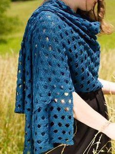 Free knitting pattern, lace wrap