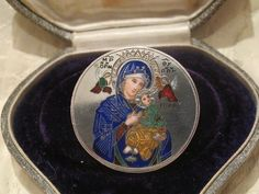Antique silver and Enamel brooch, 18th century