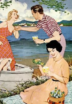 Beer - detail from 1957 Ballantine Ale ad.