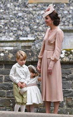 Duchess Kate with Prince George and Princess Charlotte