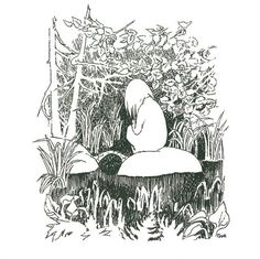 Illustration from The Summer Book, by Tove Jansson, Art And Illustration, Illustrations, Tove Jansson, Moomin Books, Summer Books, Art Inspo, Art Reference, Book Art, Troll