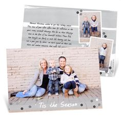 Gorgeous Photo Christmas Cards good idea for the extra pictures-pinned on