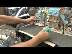 How to build your Lemax Village display.Lemax shows step by step how to use materials.++I think this would work regardless of what brand village items you use. Christmas In The City, Christmas Town, Christmas Villages, Christmas Holidays, Christmas Ideas, Lemax Village, Christmas Village Display, Dept 56 Snow Village, Halloween Village