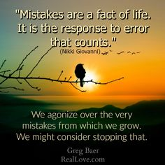 Tired of agonizing about mistakes? Come be immersed in love at the Jan 30 Real Love Weekend Retreat (only 2 tickets left!) and discover how to learn from mistakes, instead of punishing yourself for them: https://store.reallove.com/Weekend-Real-Love-Retreat-with-Greg-January-30-31-2016-_p_155.html