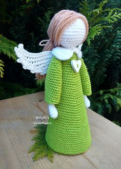 Large Crochet Angel Birthday Wedding Christening First Crochet Angel Pattern, Crochet Angels, Easy Crochet Patterns, Doll Patterns, Crochet Christmas Gifts, Christmas Toys, Christmas Knitting, Crochet Beanie, Crochet Toys
