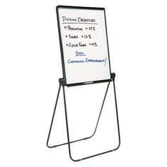 Quartet Ultima Presentation Dry Erase Easel, Melamine, 27 x 34, White, Black Frame, Grey