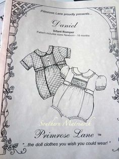 Southern Matriarch: A Birthday for a Prince** Boys Sewing Patterns, Baby Clothes Patterns, Girl Dress Patterns, Skirt Patterns, Coat Patterns, Blouse Patterns, Sewing Ideas, Smocked Baby Clothes, Sewing Coat