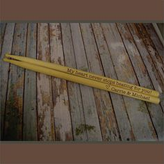 Engraved Drumsticks Pair of Personalized Drum Sticks Professional 2B Wood Tip