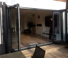 Aluminium bifold doors, expand your living space. Supply & installation. Wiltshire.