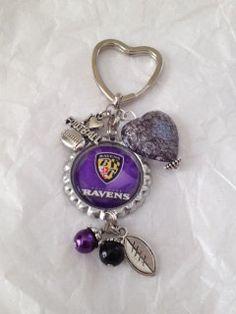 Baltimore Ravens Bottle Cap keychain. $5.00, via Etsy.
