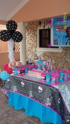 Photo 5 of 34: Monster High / Birthday Talia´s 11Th Birthday Parti Decor, Polka Dots, Monster High Birthday, Birthday Parties, High Parti, 5Th Birthday, 11Th Birthday, 13Th Birthday, Monster High Party