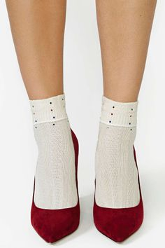 Twinkle Toes Rhinestone Ankle Socks   Shop What's New at Nasty Gal