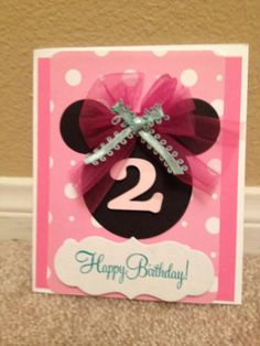 Minnie card, great for an invitation.
