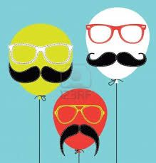 globos--mostacho--lentes......
