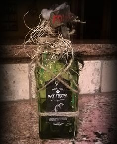 Rat Pieces Handmade Potion Bottle by CrimsonPain on Etsy