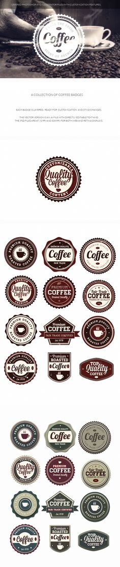 Vintage and retro badges are THE number one design resource going into 2014, and for good reason. They have literally thousands of uses, and each one looks so different you can practically use them fo