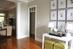Sherwin Williams Worldly Gray Color the living room with this maybe? Grey Bedroom Paint, Grey Paint, Master Bedroom, Paint Colors For Home, House Colors, Living Room Inspiration, Home Decor Inspiration, Color Inspiration, Wordly Gray