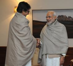 Eminent film actor, Shri Amitabh Bachchan called on the Prime Minister, Shri Narendra Modi, in New Delhi.