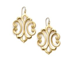 A.V. MAX Scroll Baroque Drop Earrings ($32) ❤ liked on Polyvore
