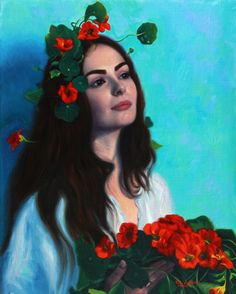 Ophelia, 2020 Oil on Linen 19 3/10 × 15 2/5 in 49 × 39 cm Modern Portrait Artists, Contemporary Artists, Melbourne Art, Australian Artists, Woman Painting, Figurative Art, Art For Sale, Art Gallery, Artsy