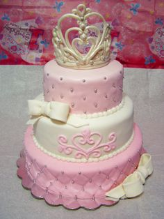 Princess Themed Birthday Cake.