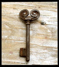 Rare Key Unique Large Antique Gypsy Key Rare Finds by Artstock