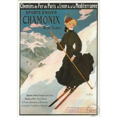 Carte Postale Chamonix Skieuse