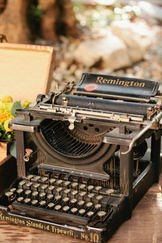 Old Remington Typewriter, it's so nice to have something like this as decoration in your home ~