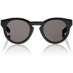 Givenchy Women's Stud-Embellished Round Sunglasses (£345) ❤ liked on Polyvore featuring accessories, eyewear, sunglasses, multi, round frame glasses, givenchy eyewear, cut out sunglasses, round glasses and studded sunglasses