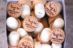 Thank You Wedding Favors Personalized Wine by UrbanLoftTampa