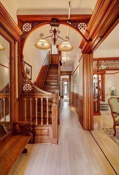 Brooklyn 2nd Street Victorian foyer woodwork | by techpro12 #victorianinterior