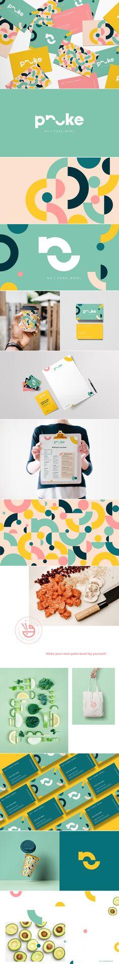 Nu Poke Bowl healthy food brand identity design by Rita Duczmańska-Drabina – ThePins Brand Identity Design, Graphic Design Branding, Corporate Design, Logo Design, Branding Agency, Kids Branding, Logo Branding, Logos, Typography Logo