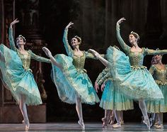The Dryads (Vision Scene) from Paris Opera Ballet's Sleeping Beauty. Photo by Emma Kauldhar