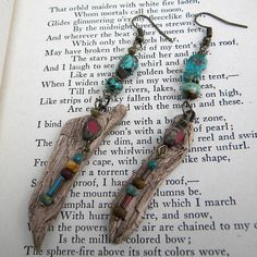 Turquoise  Earrings   Turquoise and Driftwood Earrings by Msemrick, $26.00