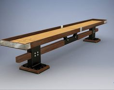 Bruno Shuffleboard tabla Woodworking Books, Woodworking Magazine, Easy Woodworking Projects, Popular Woodworking, Wood Projects, Shuffleboard Table, Industrial Farmhouse, Game Room, Wood Crafts