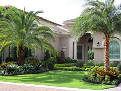 53 Ideas for landscape ideas front yard driveway lawn Best Picture For tropical . - 53 Ideas for landscape ideas front yard driveway lawn Best Picture For tropical garden ideas hawaii - Desert Landscaping Backyard, Palm Trees Landscaping, Florida Landscaping, Driveway Landscaping, Tropical Landscaping, Landscaping With Rocks, Backyard Landscaping, Landscaping Ideas, Front Garden Ideas Driveway
