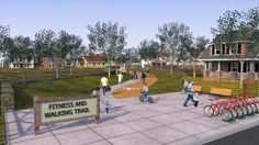Designing for Active Living by ASLA. Watch an animation that explains how to transform a car-centric community into one that enables active living. Learn how designing communities for walking, biking, and increased social interaction in open green spaces improves health.