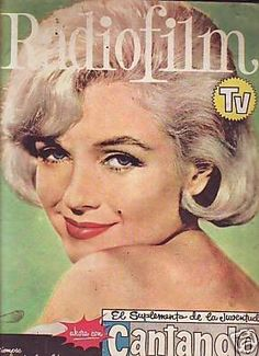 "Radio Film TV - 1962, magazine from Argentina. Front cover publicity photo of Marilyn Monroe for ""Let's Make Love"", 1959."