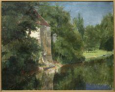 L'étang du domaine de l'ermitage, 1885