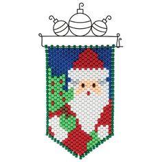 Herrschners® Santa Mini Beaded Banner & Hanger Kit