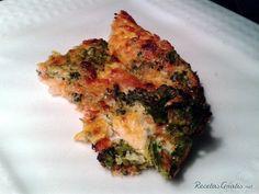 Tortilla de brócoli con queso