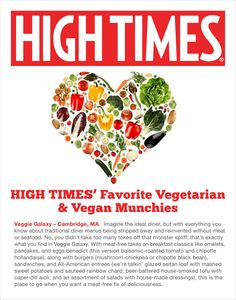 """High Times voted Veggie Galaxy one of their """"Favorite Vegetarian & Vegan Munchies"""" in 2014. Must be our cheesy fries (veg and vegan)! Here's the list of their Top 10: http://www.hightimes.com/read/10-best-meat-free-munchie-spots-america www.veggiegalaxy.com"""