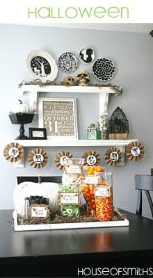 Holiday Shelves from the house of smiths.  What a cute idea (I have had a holiday hall table). Must try this in my empty-nesty perfectly idealised life!