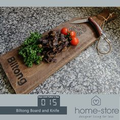 Only 15 days until Fathers Day. Have you decided what you are going to spoil your dad with for this fathersday? How about this fantastic Biltong Board and Knife Set from Home-Store Caledon Square? #fathersday #musthave #lifestyle