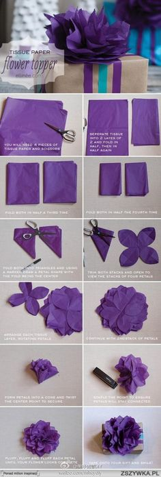 diy paper flower topper